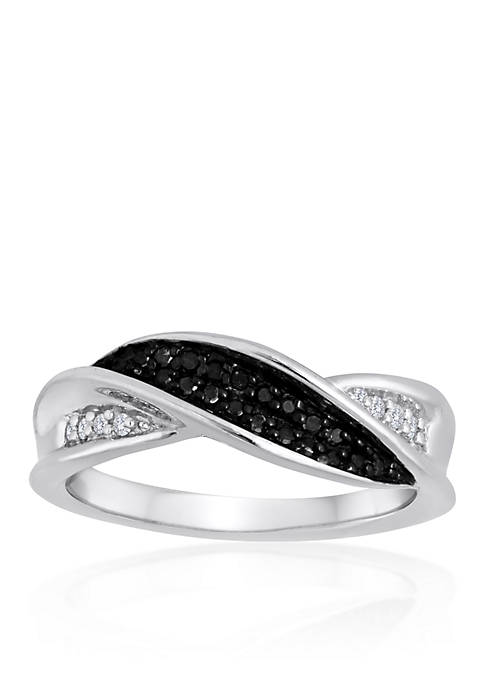 Belk & Co. Black and White Diamond Band