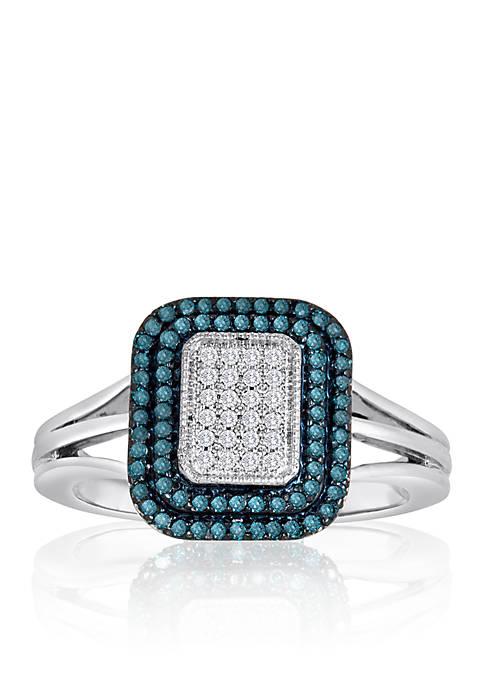 Belk & Co. Blue and White Diamond Ring