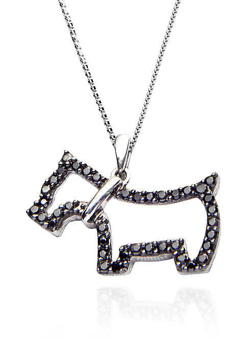 Belk & Co. Black Diamond Dog Pendant in