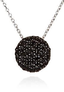 Platinum Plated Sterling Silver Black Cubic Zirconia Pendant
