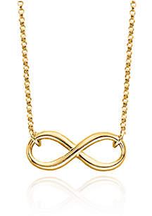 10k Yellow Gold Infinity Pendant