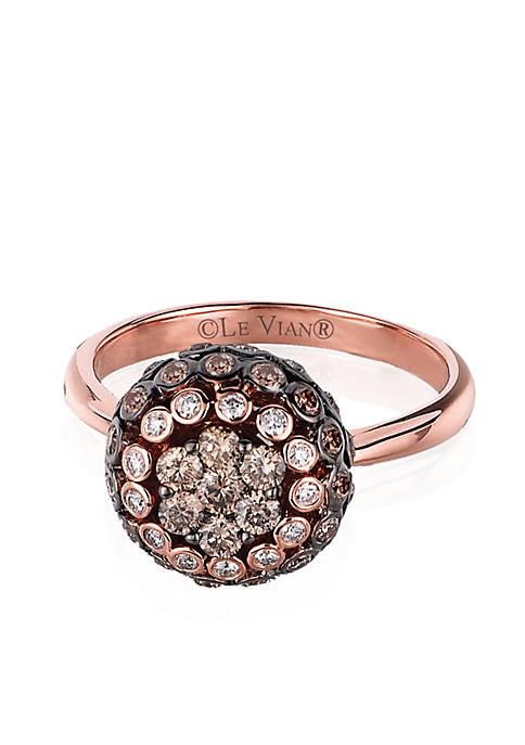 cbc29346df16 Le Vian® Chocolatier Chocolate and Vanilla Diamonds Ring