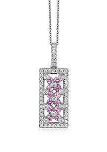 Le Vian® 3/4 ct. t.w. Bubblegum Pink Sapphires™ and 3/8 ct. t.w. Vanilla Diamonds® Pendant Necklace in 14k Vanilla Gold®