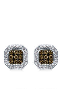 Chocolatier® 3/8 ct. t.w. Chocolate Diamonds® and 3/8 ct. t.w. Vanilla Diamonds® Earrings in 18k Vanilla Gold®