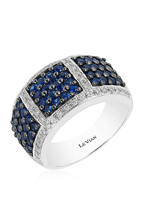 3/8 ct. t.w. Blueberry Sapphires™ and 1/4 ct. t.w. Vanilla Diamonds® Ring in 14k Vanilla Gold®