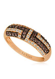 Chocolatier® 1/4 ct. t.w. Chocolate Diamonds® and 1/5 ct. t.w. Vanilla Diamonds® Ring in 14k Strawberry Gold®