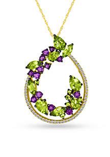 Green Apple Peridot™ Pendant in 14k Honey Gold™