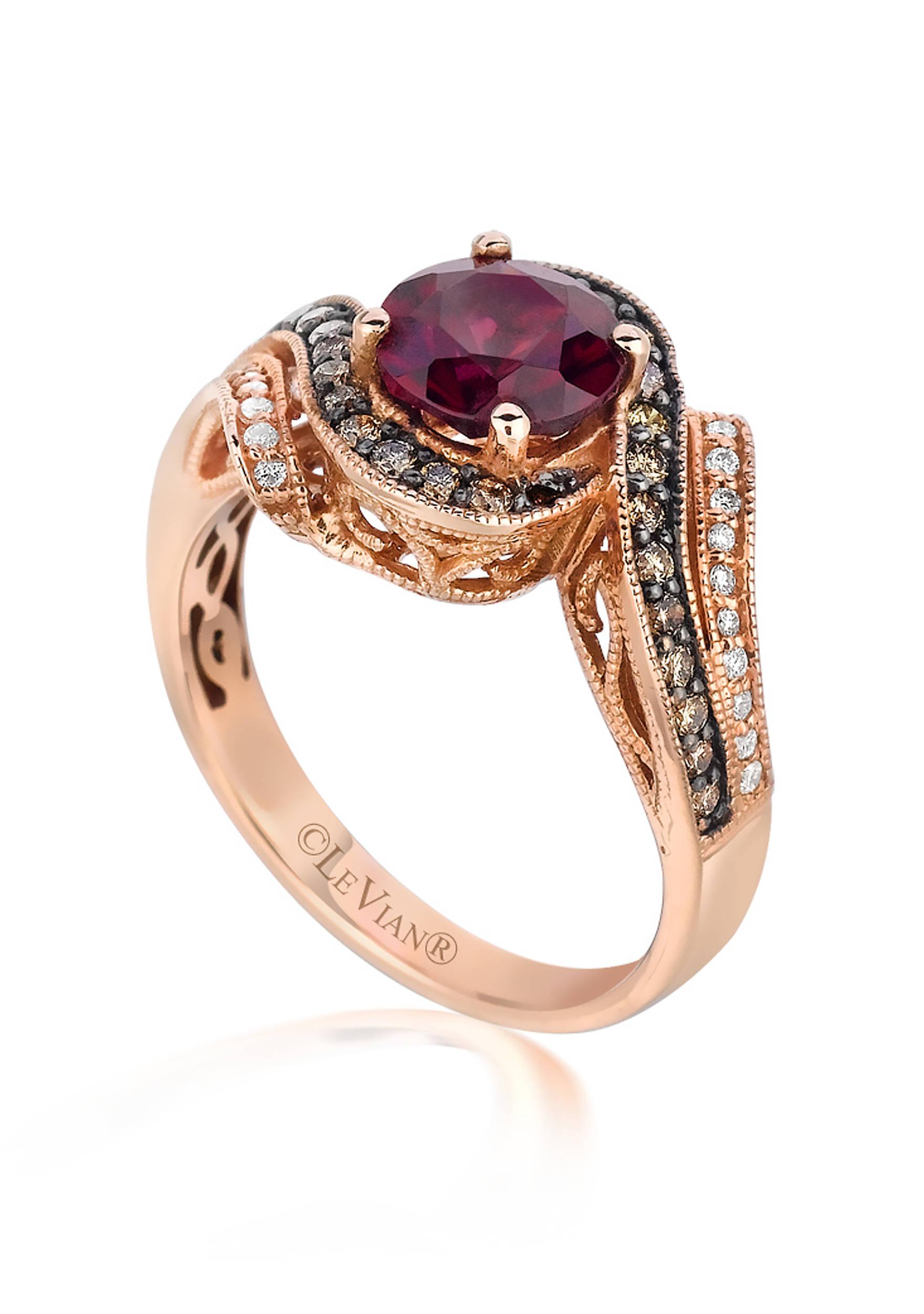 Le Vian® 14k Strawberry Gold® Raspberry Rhodolite®, Vanilla Diamond ...
