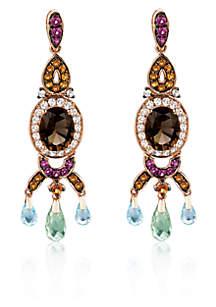 Multicolored Gemstone Earrings in 14k Strawberry Gold®