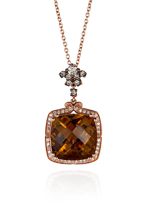 Le Vian® 14k Strawberry Gold® Caramel Quartz™, Vanilla