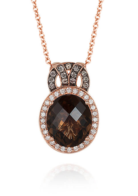 Le Vian® Smokey Diamonds Surrounding Chocolate Diamond in