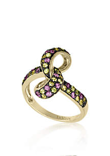 Pink Sapphire and Yellow Sapphire Ring in 14k Honey Gold™