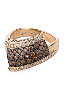 Le Vian® Chocolatier® 9/10 ct. t.w. Chocolate Diamonds® and 1/4 ct. t.w. Vanilla Diamonds® Ring set in 14k Honey Gold™