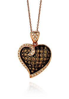 Le Vian® Chocolate Diamond® and Vanilla Diamond® Pendant in 14k Strawberry Gold®