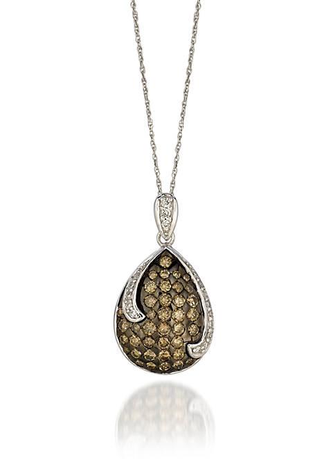 Le Vian® Chocolatier Chocolate and Vanilla Diamonds Pendant