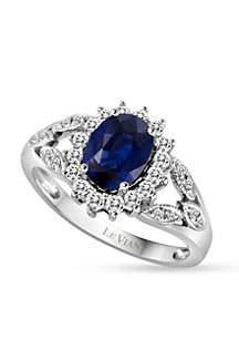 Le Vian Blueberry Sapphires and Vanilla Diamonds Ring in 14k Vanilla Gold