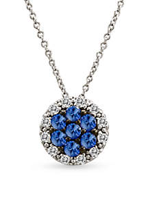 Le Vian® Le Vian Cornflower Ceylon Sapphire and Vanilla Diamonds Pendant in 14k Vanilla Gold