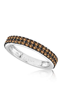 Chocolate Diamond® Band in 14k Vanilla Gold®