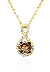 Chocolate Diamond® and Vanilla Diamond™ Pendant in 14k Honey Gold™