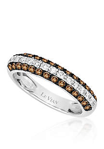 Chocolate Diamond® and Vanilla Diamond® Ring in 14k Vanilla Gold®