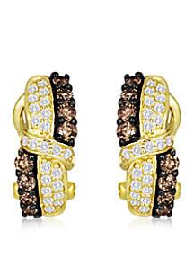 Chocolatier® 3/8 ct. t.w. Chocolate Diamonds® and 1/5 ct. t.w. Vanilla Diamonds® Earrings in 14k Honey Gold™
