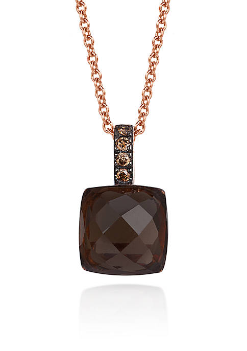 Le Vian® Chocolate Quartz® and Chocolate Diamond® Pendant