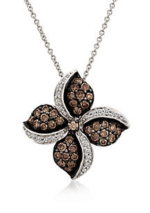 2.33 ct. t.w. Chocolatier® Chocolate Diamonds® and 1/4 ct. t.w. Vanilla Diamonds® Pendant Necklace in 14k Vanilla Gold®