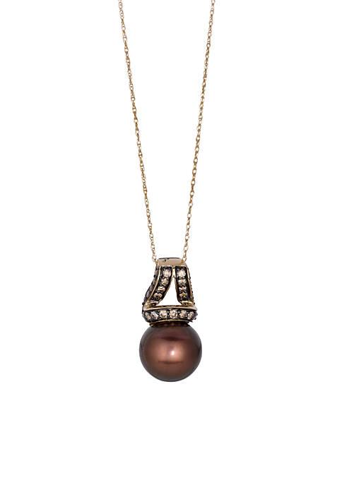 Le Vian® Chocolatier Chocolate Pearls Pendant in 14k
