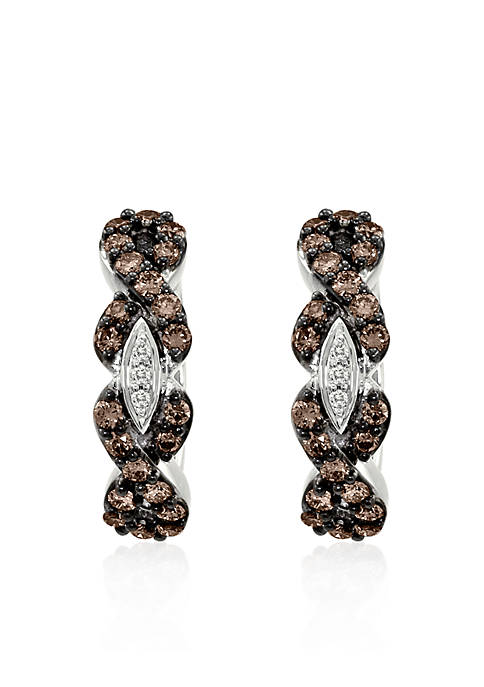 Le Vian® Chocolate Diamond® and Vanilla Diamond® Earrings