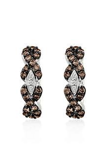 Chocolate Diamond® and Vanilla Diamond® Earrings in 14k Vanilla Gold®