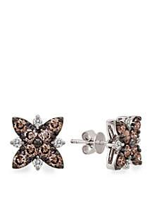 Chocolatier® 3/8 ct. t.w. Chocolate Diamonds® and 1/4 ct. t.w. Vanilla Diamonds® Earrings in 14k Vanilla Gold®
