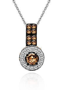Chocolate Diamond® and Vanilla Diamond® Pendant in 14k Vanilla Gold®