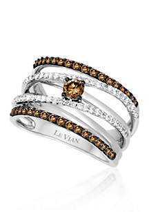Chocolate Diamond® and Vanilla Diamond® Band in 14k Vanilla Gold®