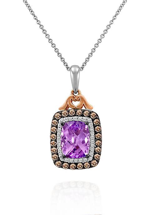 Le Vian® Grape Amethyst, Vanilla Diamonds, and Chocolate