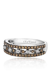Chocolate Diamond® and Vanilla Diamond® Band in 14k Vanilla Gold®