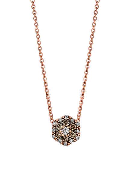 Le vian necklaces chocolate diamond neclaces belk le vian chocolate and vanilla diamond round pendant necklace aloadofball Choice Image