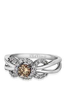 Le Vian® Chocolatier® Chocolate Diamonds® and Vanilla Diamonds® Ring in 14k Vanilla Gold®