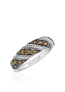 Chocolate Diamond® and Vanilla Diamond™ Ring in 14k Vanilla Gold™