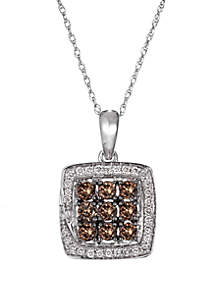 Le Vian® 1/2 ct. t.w Chocolatier® Chocolate Diamonds® and 1/8 ct. t.w. Vanilla Diamonds® Pendant Necklace in 14k Vanilla Gold®