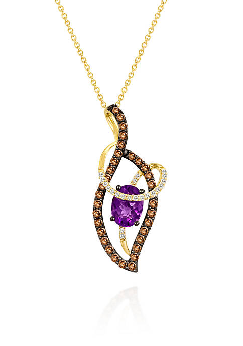 Le Vian® Candy Colors Amethyst®, Chocolate Diamond®, and