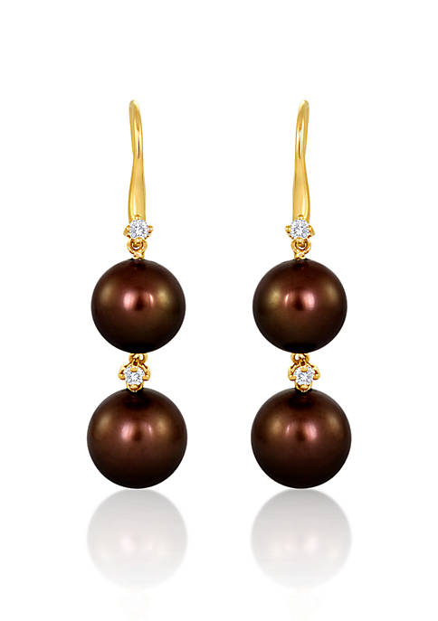 Le Vian® 14k Honey Gold™ Tahitian Chocolate Pearl®