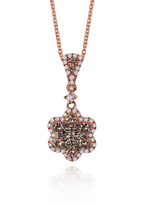 Le Vian® Chocolate Diamond® and Vanilla Diamond™ Flower