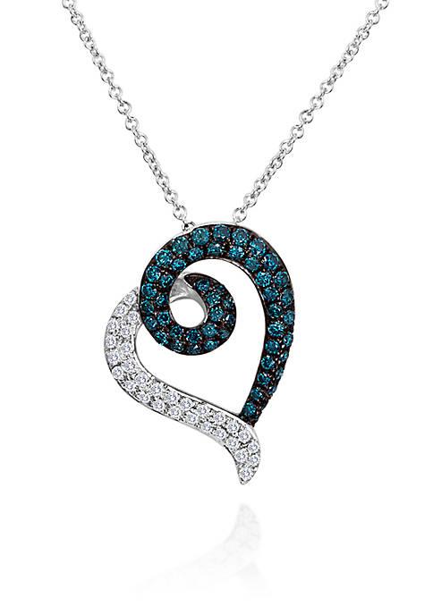 Le Vian® Blueberry Diamond® and Vanilla Diamond® Heart