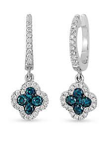 Le Vian® Le Vian Exotics Blueberry Diamonds and Vanilla Diamonds Earrings in 14k Vanilla Gold