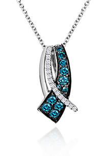 Blueberry Diamond® and Vanilla Diamond® Pendant in 14k Vanilla Gold®