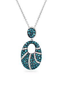 Le Vian Exotics Vanilla Diamonds and Blueberry Diamonds Pendant in 14k Vanilla Gold