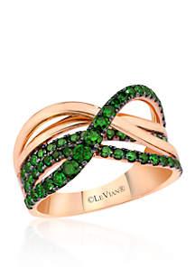 Le Vian® Kiwiberry Green Diamond™ Ring in 14k Strawberry Gold®