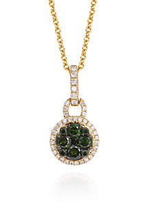 Le Vian® Kiwiberry Green Diamond™ and Vanilla Diamond® in 14k Honey Gold™