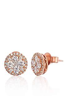 Vanilla Diamond® Stud Earrings in 14k Strawberry Gold®