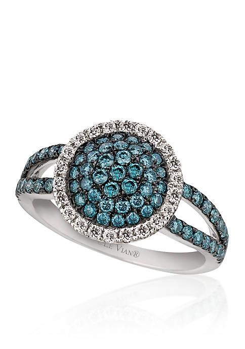 Iced Blueberry Diamond® and Vanilla Diamond® Ring in 14k Vanilla Gold®